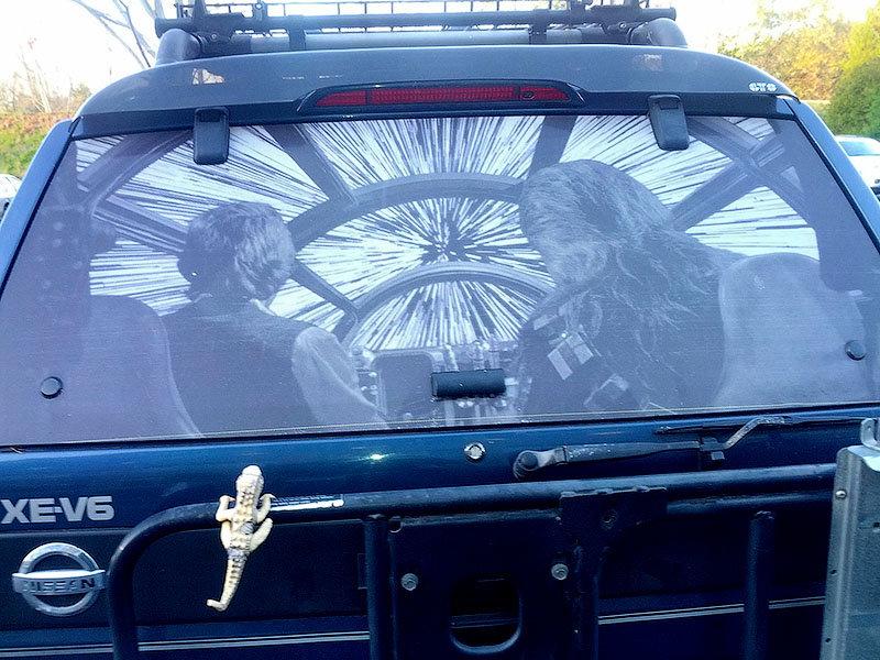 Прикольная картинка на стекло автомобиля, дед