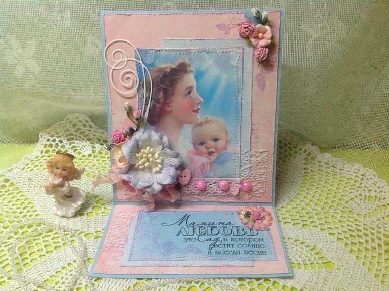 Христианские, открытка скрапбукинг к дню матери