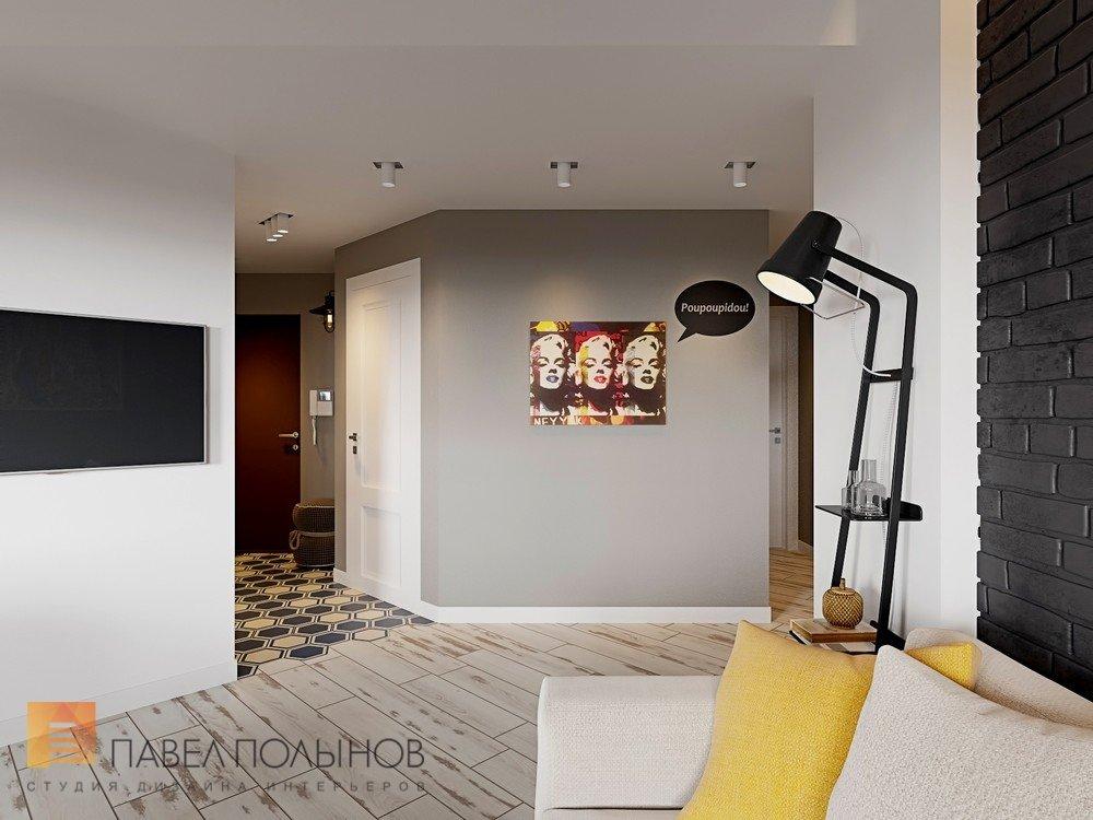 кухня гостиная в проекте интерьер квартиры в скандинавском стиле с