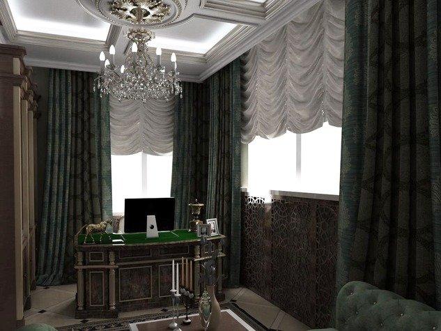 Маленький кабинет в классическом стиле