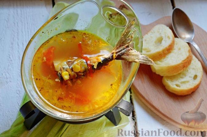 Суп скумбрии рецепт фото