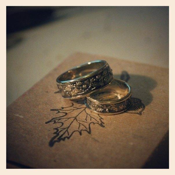 кольца в эко-стиле