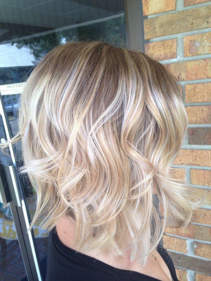 балаяж на светлые волосы каре фото