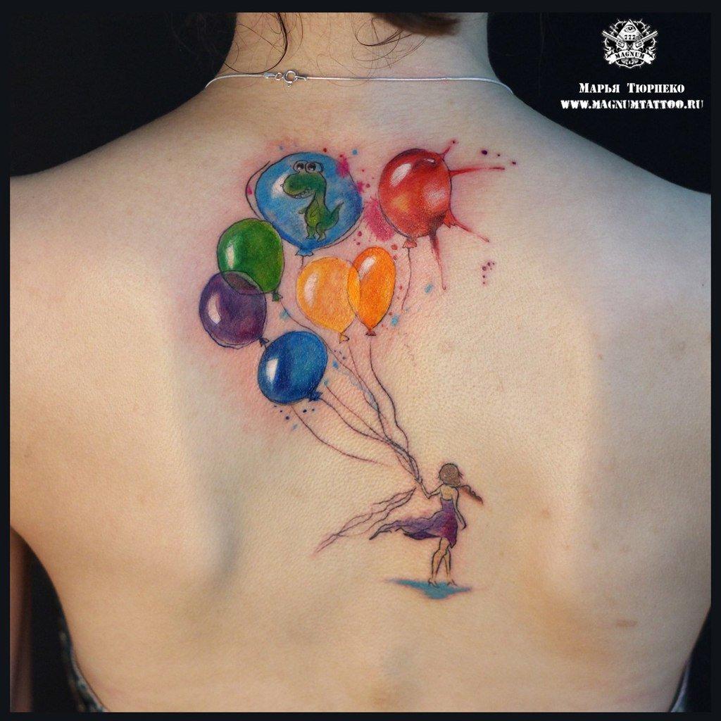 картинки тату с воздушными шариками