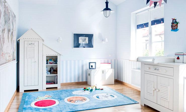 игровая зона в стиле прованс в детской