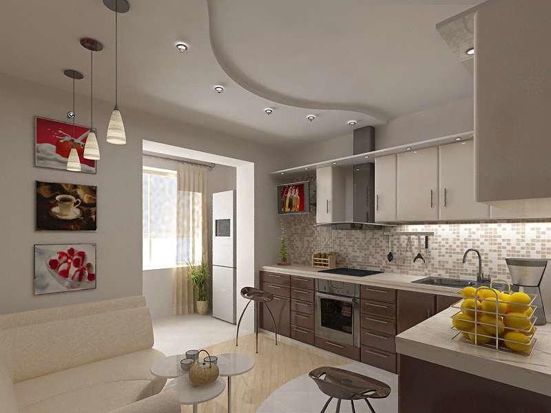 Дизайн кухни с выходом на балкон: фото дизайнерских идей.