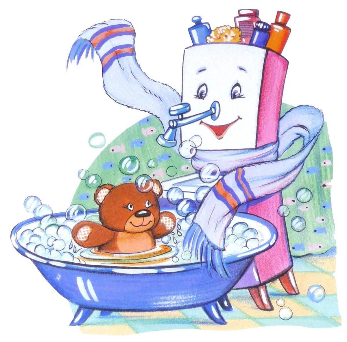 Картинка с мойдодыром для детей, настю