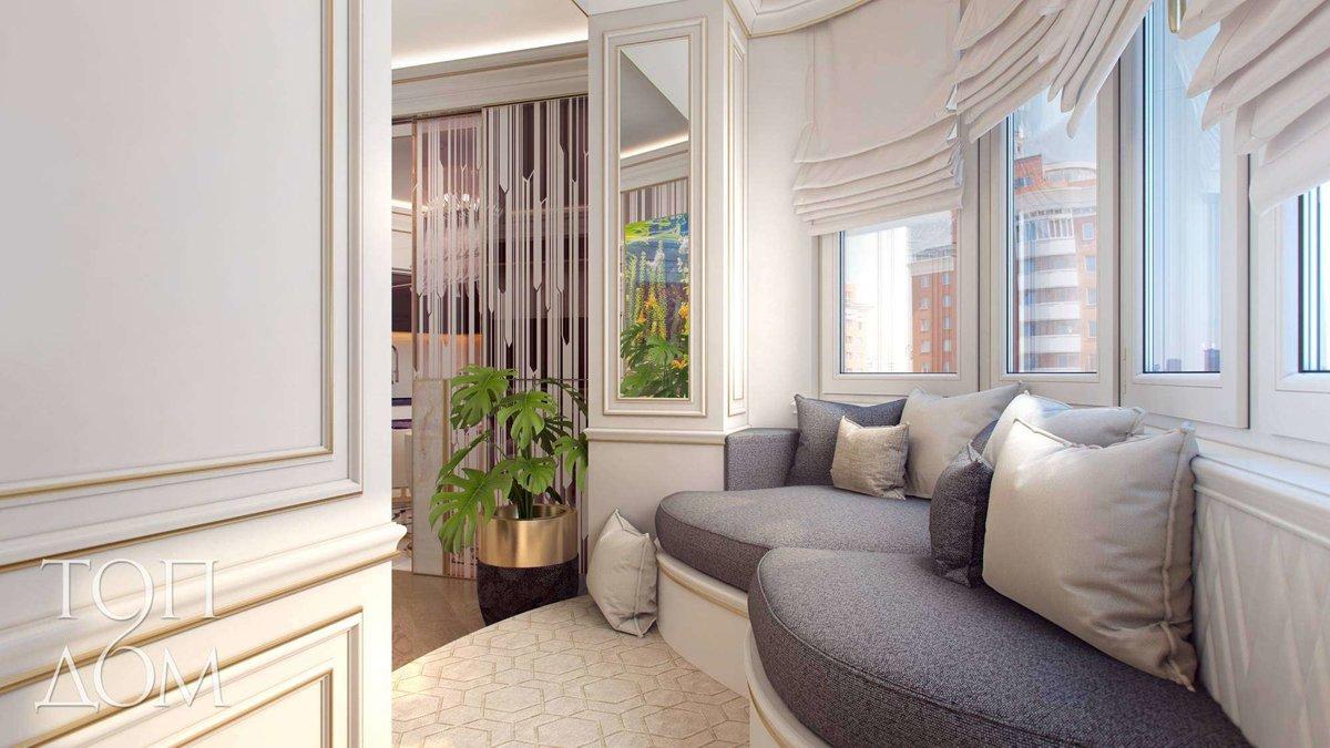Прорабатываем интерьер комнаты с балконом - лучшие решения ф.