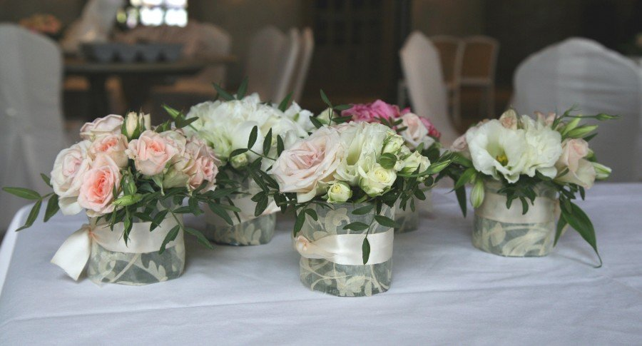 Свадебные букет композиции на столы