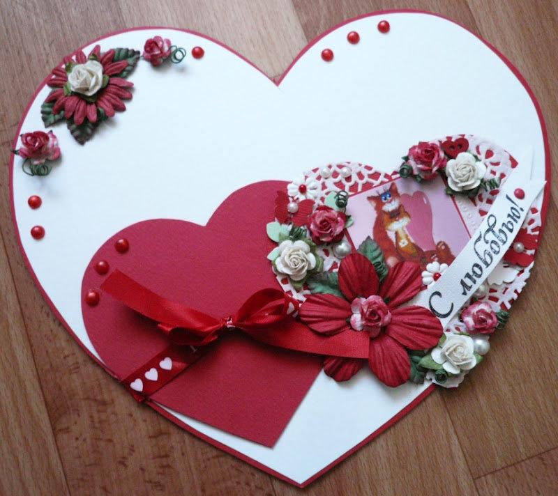 Открытка в виде валентинки, открытки дедушки