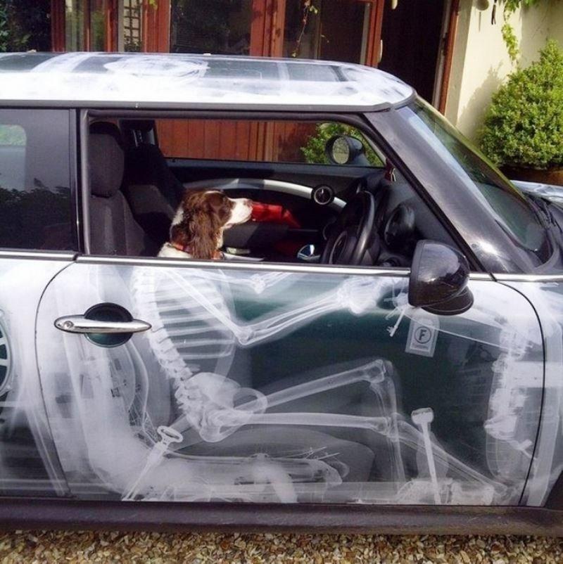 Прикольные рисунок авто, юбилеем картинка