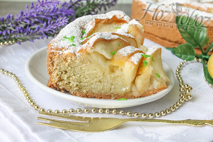 Открытый яблочный пирог рецепт с фото пошагово