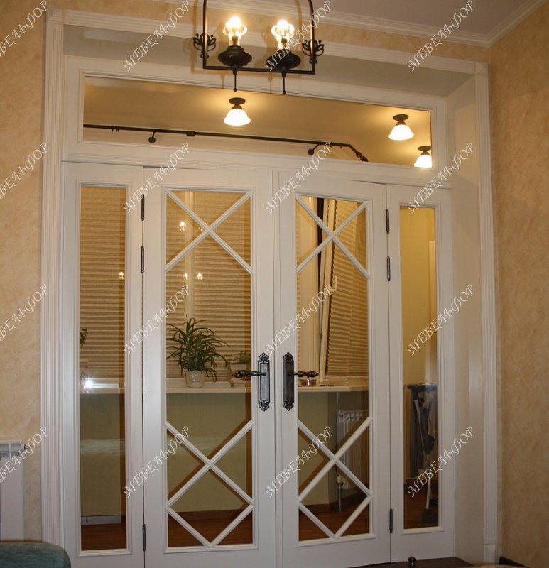 Двери в гостиную двойные с фрамугой размеры