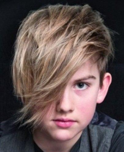 Причёски для мальчиков на бок 92