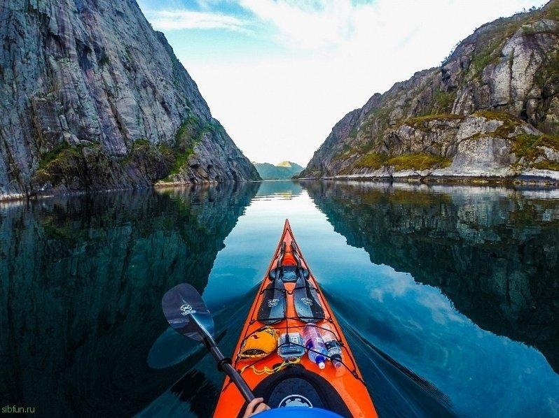 Удивительное путешествие по Норвегии на байдарке Развлека...