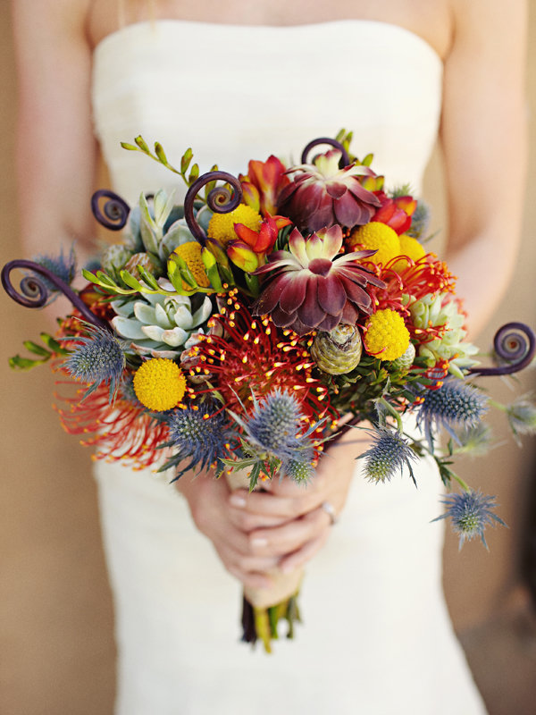 Цветы, букет невесты необычные цветы