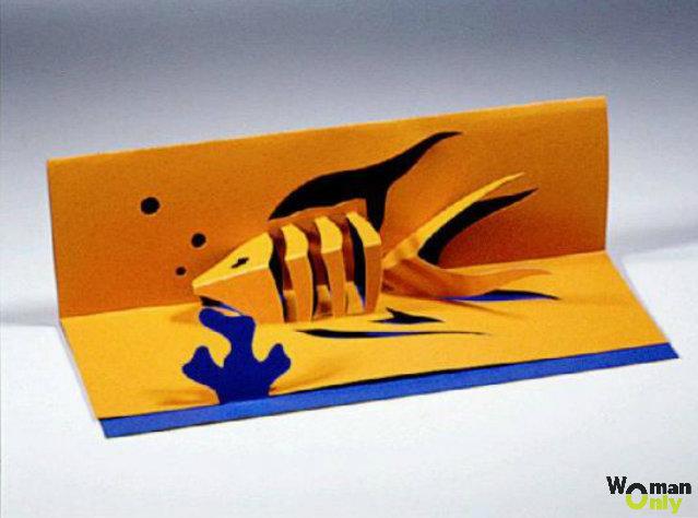 Как сделать открытку которая открывается в воде, открытки февраля