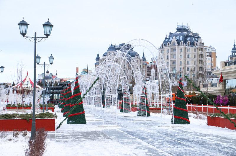 Тематика новогоднего оформления Кремлевской набережной