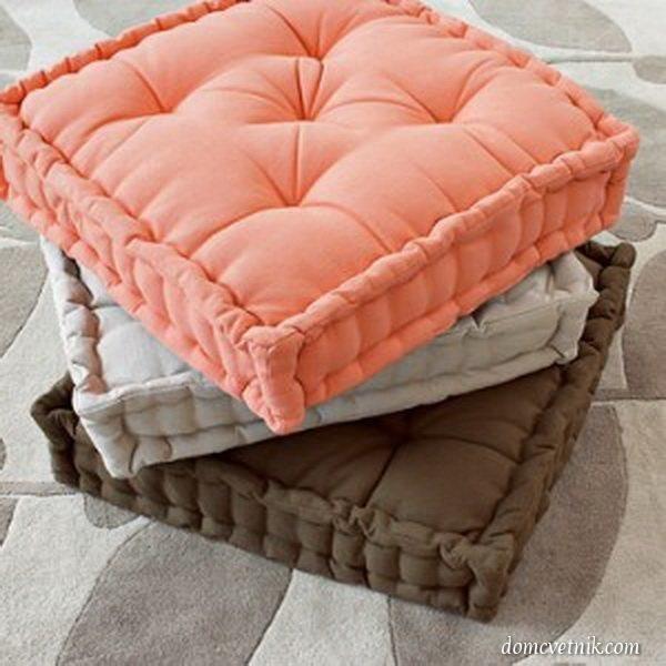 Подушки на сидения своими руками
