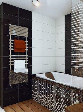 """Интерьер в стиле """" Ванные, уборные"""". Плитка для маленькой ванной"""