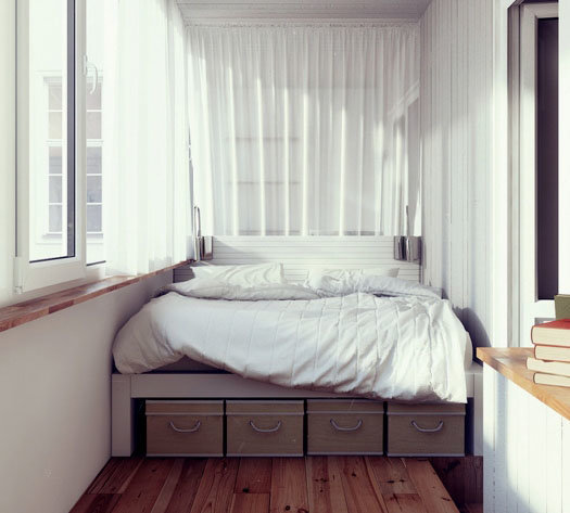 дизайн гостиной совмещенной со спальней 5