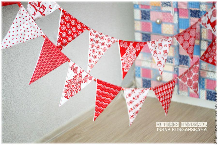 Флажки из ткани для детского сада своими руками 33