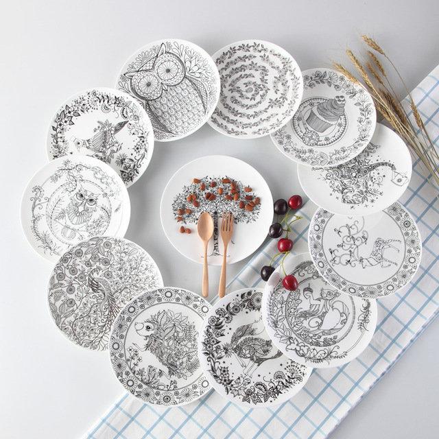 Тарелки с прикольными рисунками с Алиэкспресс
