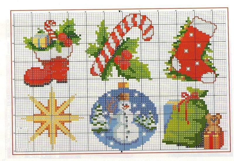 Вышивка крестом схемы новогодние на открытку