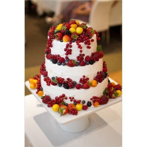 фруктовый торт сливки двухъярусный фото