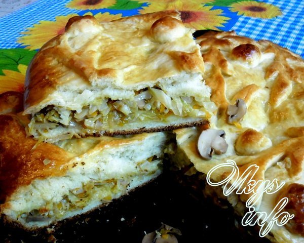 пирожки из готового дрожжевого теста с капустой в духовке