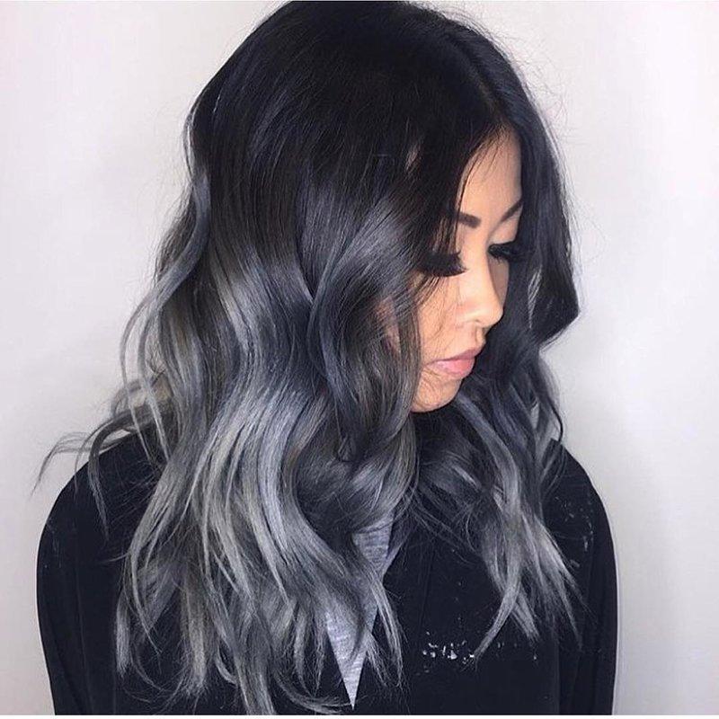 Цвет волос черно пепельный фото
