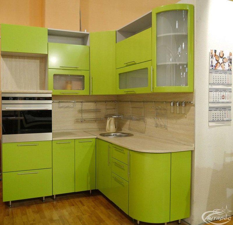 кухни фото угловые зеленые