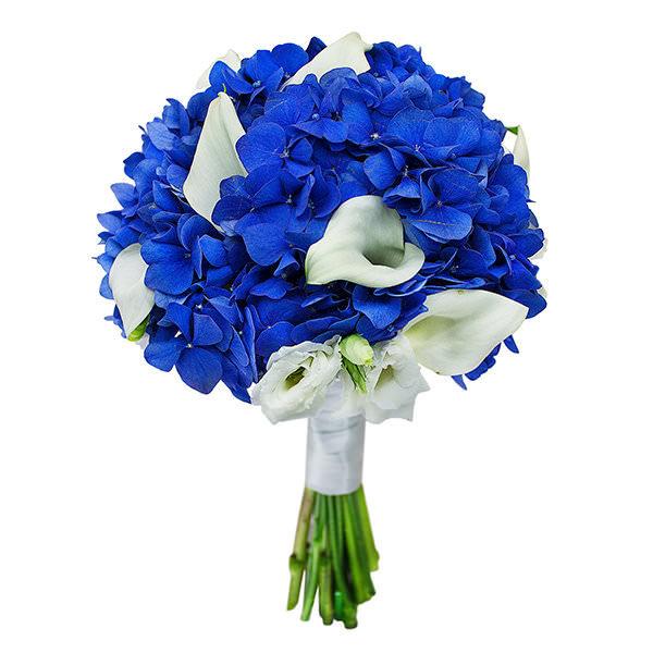 Цветы, голубые калл в свадебный букет цена