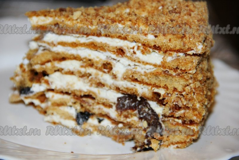 офото рецепт медовог торта снежная королева