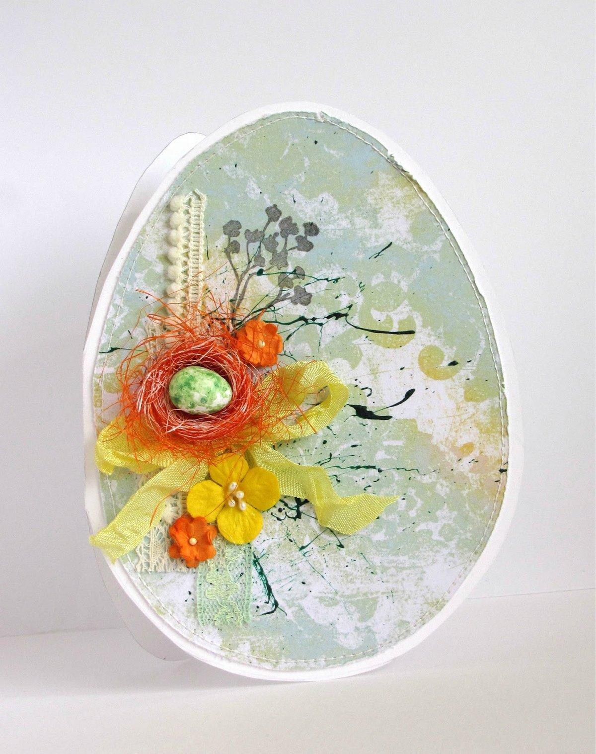 Яйцо открытки, большого размера