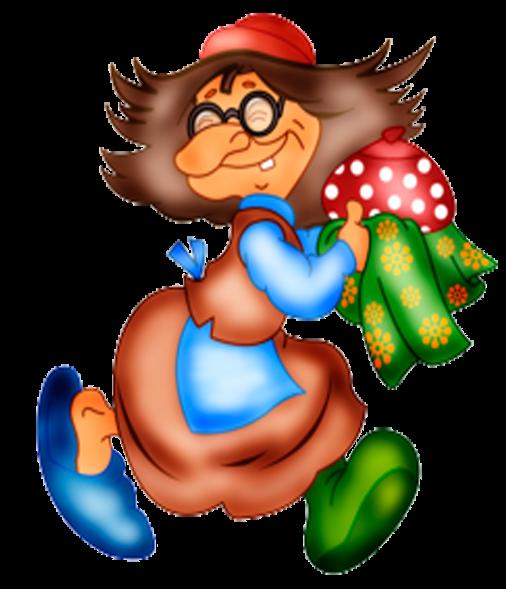 Картинки смешная баба яга