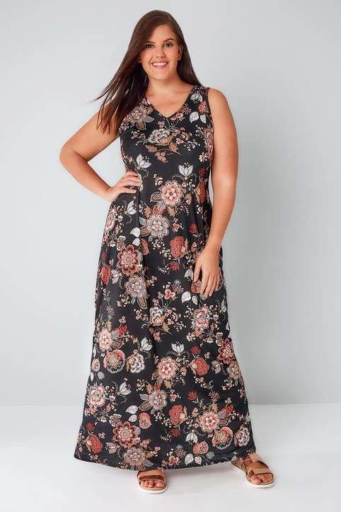 694d3b495bd93c5 ... Длинные платья и сарафаны для полных девушек и женщин английского  бренда Yours, лето 2017