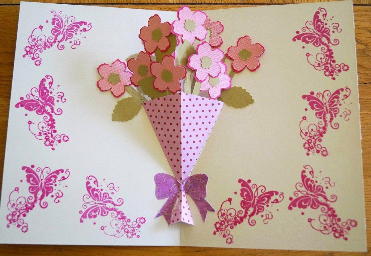 Открытки марта, как сделать открытку на день мамы ребенку