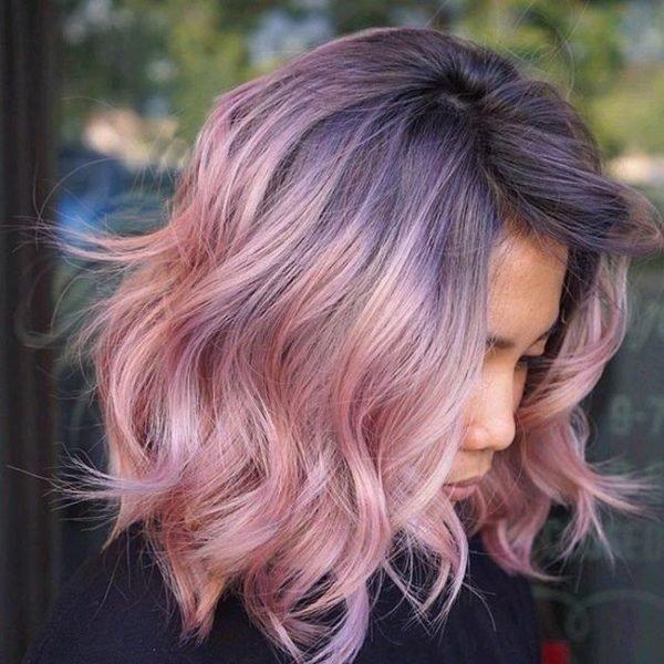 Балаяж на серые волосы