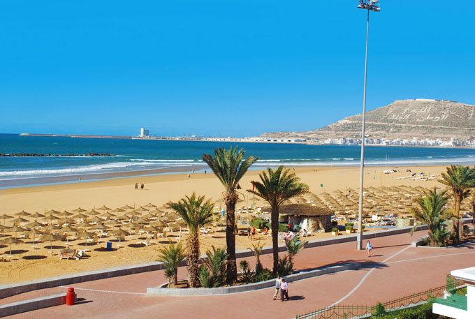 Золотой пляж Агадира.