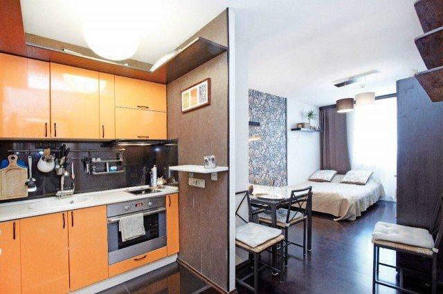 Небольшая квартира-студия площадью 25 квадратов.