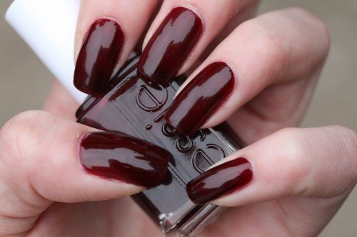 фото бордовые ногти