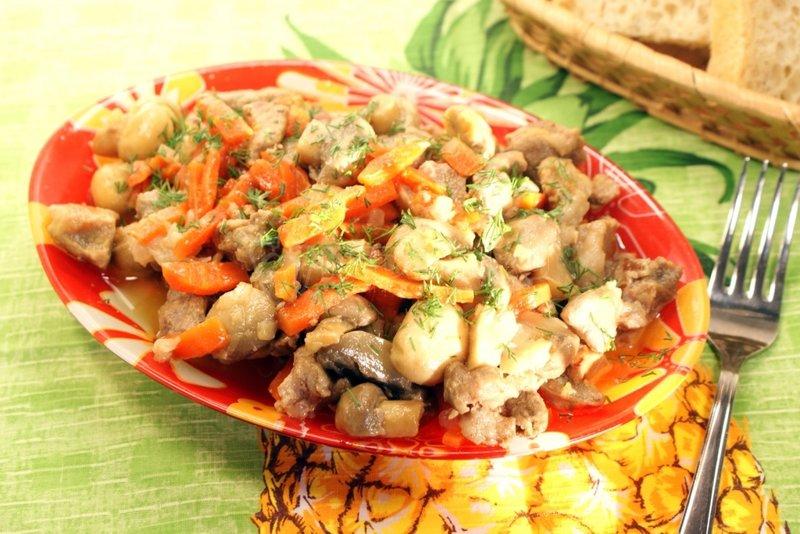Рецепт приготовления мяса грибами фото