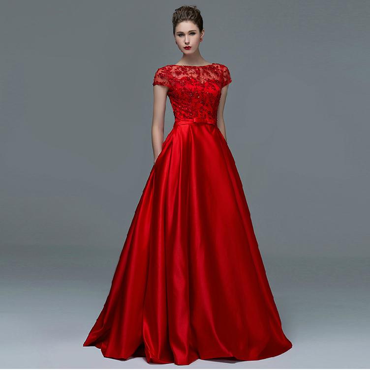 длинное платье красное фото