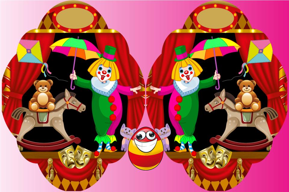 Картинки клоунов для детей найди отличия, надписью