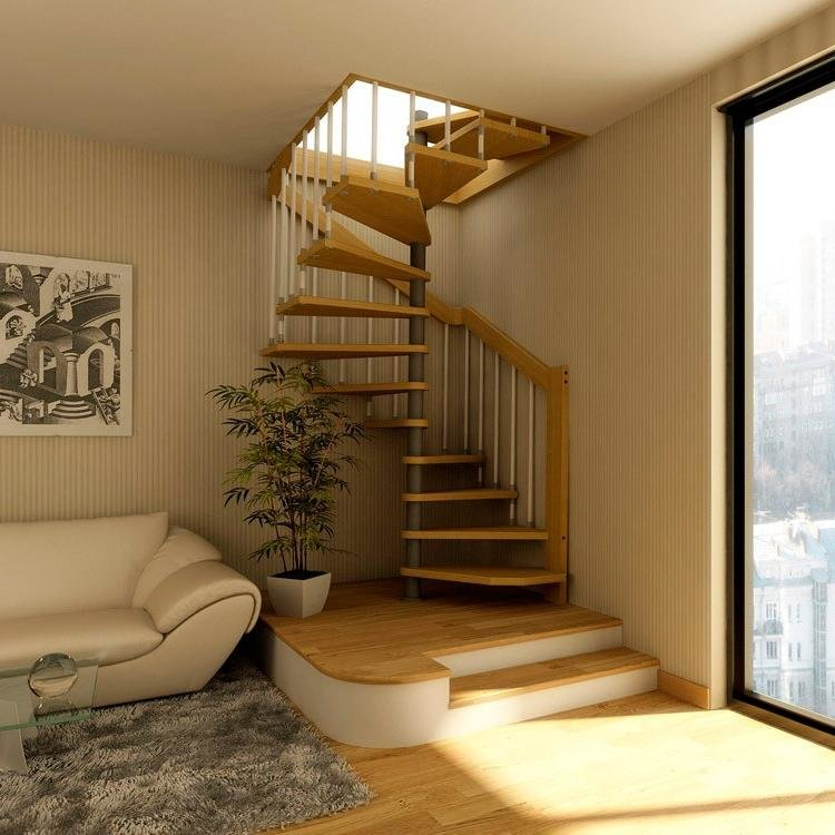 обустроить лестницу на мансарде фото