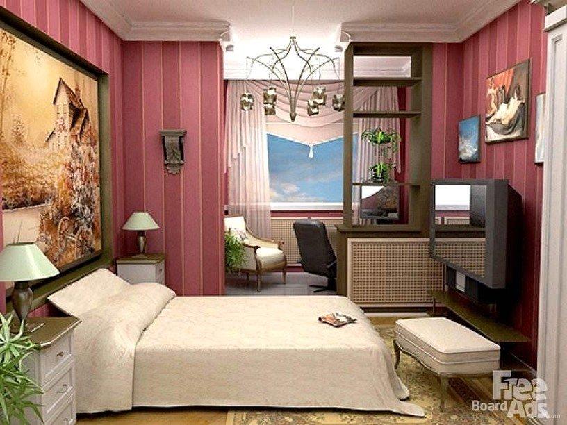 Дизайн спальни с лоджией: оформление совмещенного помещения,.