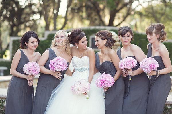 Свадьба в серо розовых тонах 47