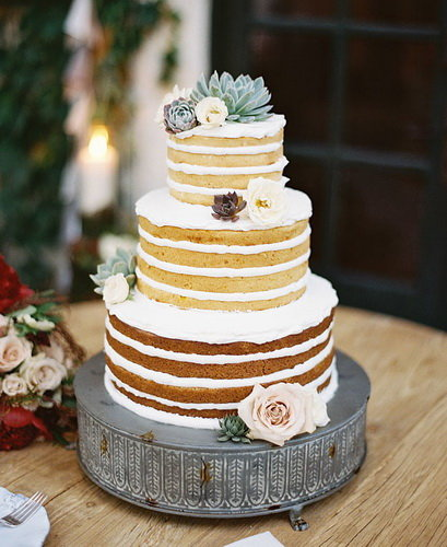 Простые свадебные торты фото