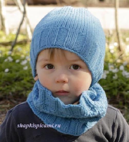 32 шапки для мальчика спицами с описанием и схемами 15